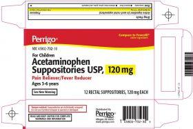 Acetaminophen Suppositories USP, 120 mg