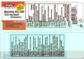 Meclizine HCL, USP - 12.5mg each