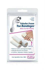 Tubular-Foam Toe Bandages